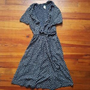 J. Crew Polka Dot Wrap Dress- Size 2